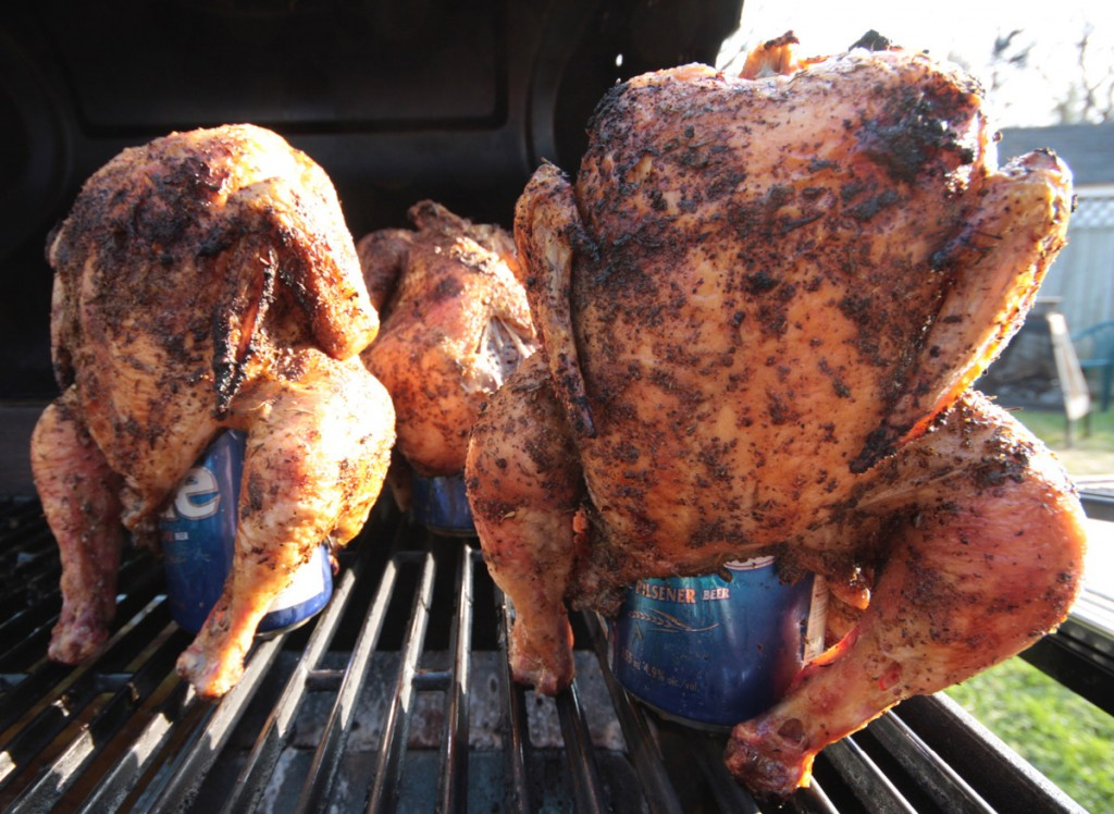 Beer can chicken Beech Ridge Farm Somerset