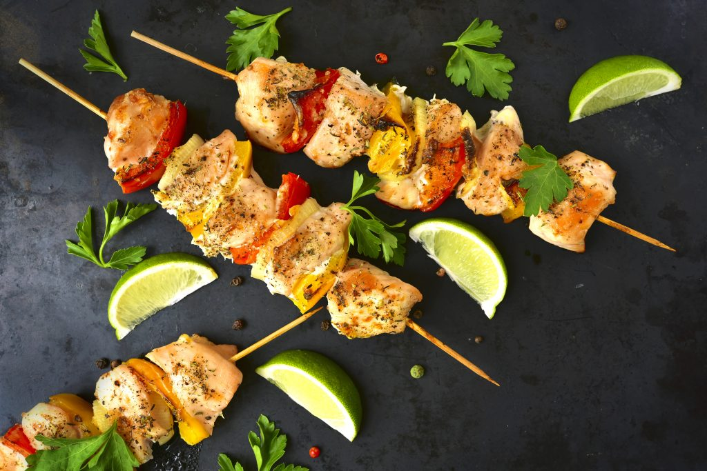 Chicken fajita kebab