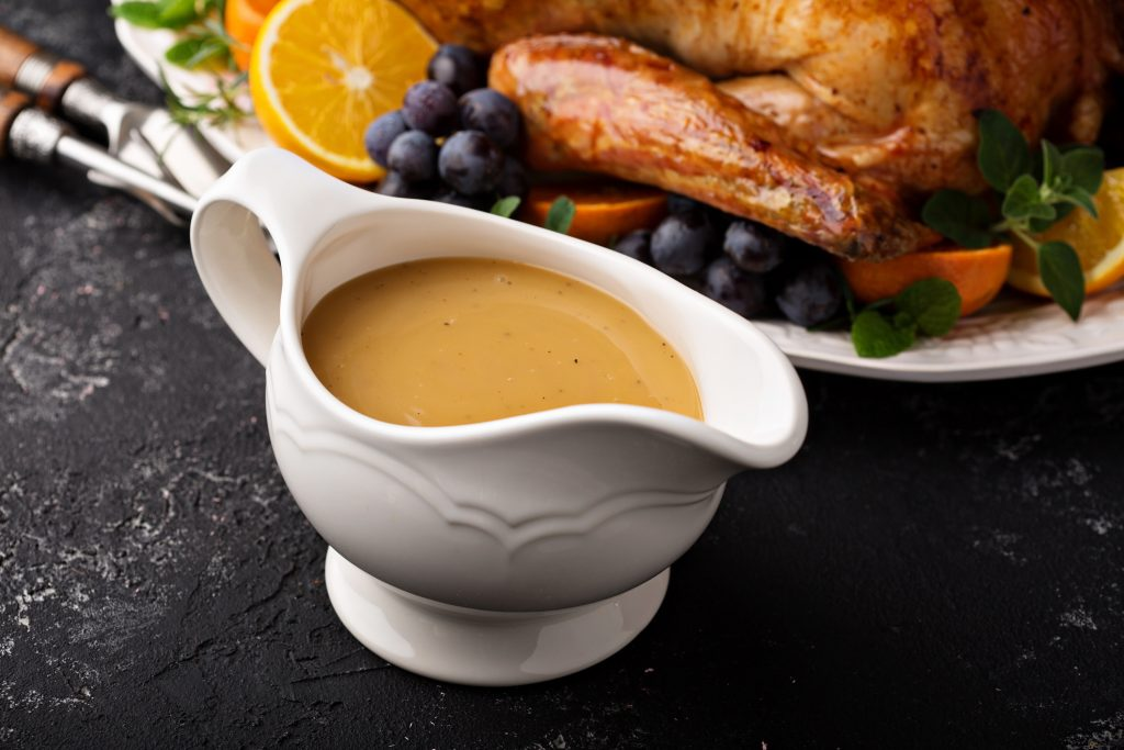 Homemade gravy turkey