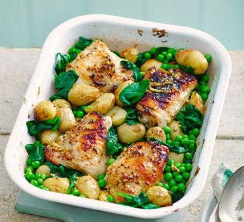 honey-mustard-chicken-thighs-with-spring-veg