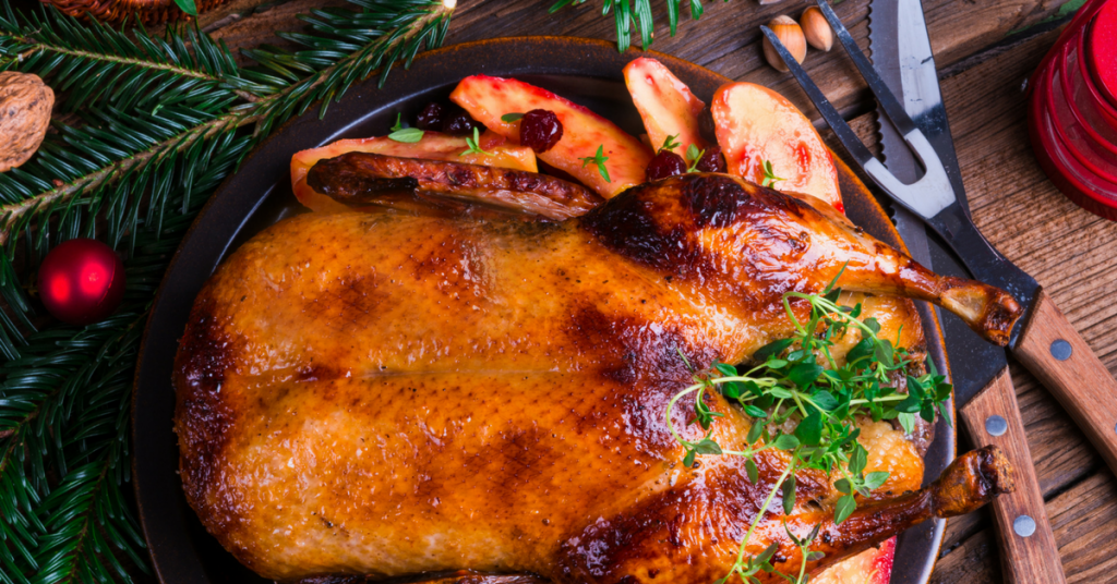 Christmas Free Range Turkey Goose by Beech Ridge Farm